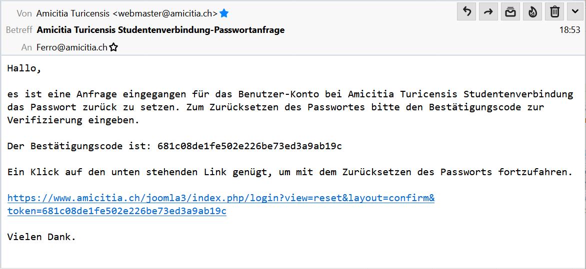 E-Mail mit Bestätigungscode