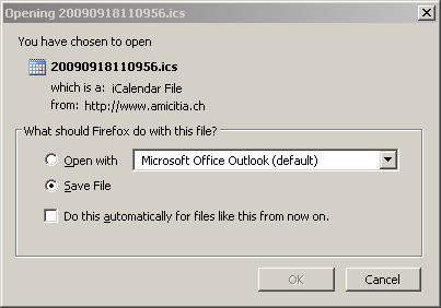 iCal Datei speichern 1