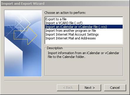 Datei Typ auswählen