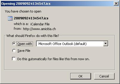 iCal Datei öffnen